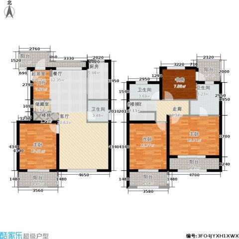 众众德尚世嘉4室0厅3卫1厨161.32㎡户型图