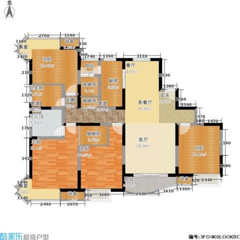 经纬城市绿洲三期4室1厅2卫1厨166.00㎡户型图