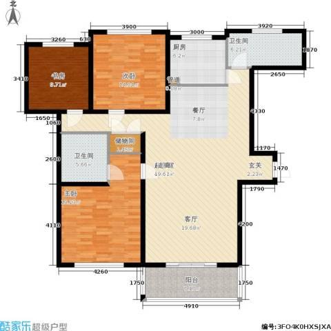 瑞金尊邸3室0厅2卫1厨136.00㎡户型图
