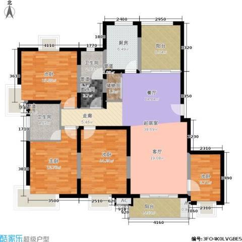 九歌上郡4室0厅2卫1厨171.00㎡户型图