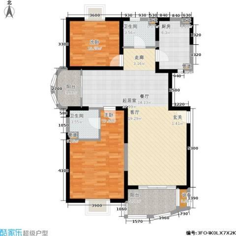 维多利华庭2室0厅2卫1厨128.00㎡户型图