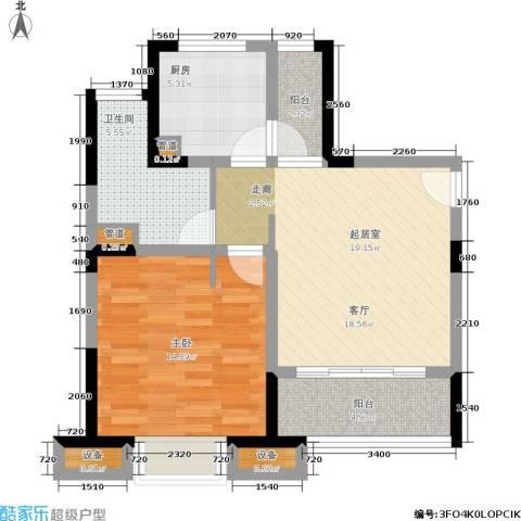 经纬城市绿洲三期1室0厅1卫1厨60.00㎡户型图