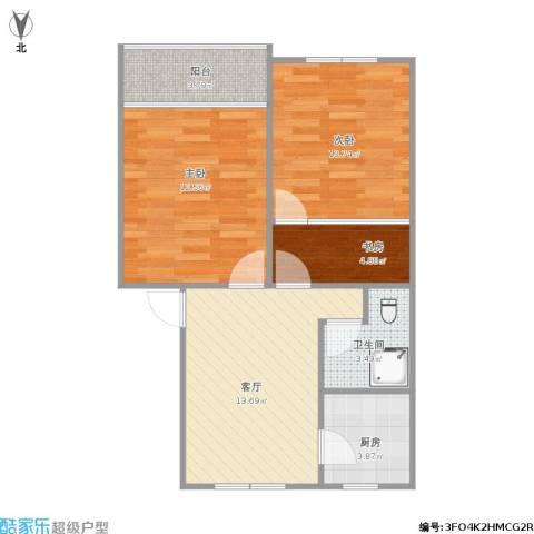 仁和花苑3室1厅1卫1厨71.00㎡户型图