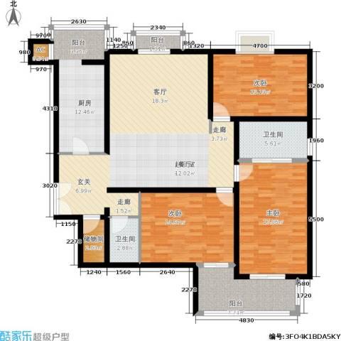时代芳群3室0厅2卫1厨170.00㎡户型图