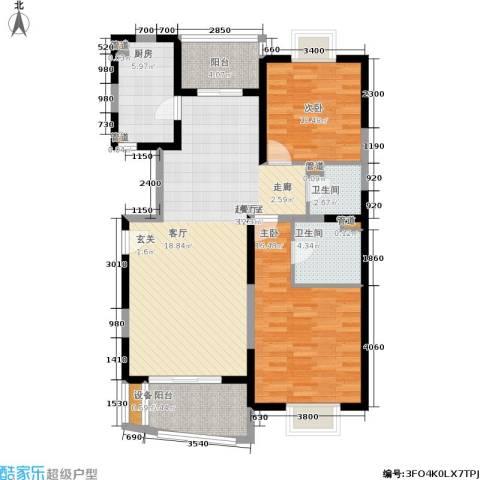 维多利华庭2室0厅2卫1厨105.00㎡户型图