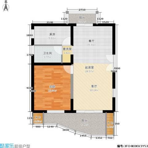 世博花园1室0厅1卫1厨74.00㎡户型图