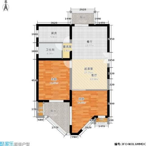 世博花园2室0厅1卫1厨87.00㎡户型图