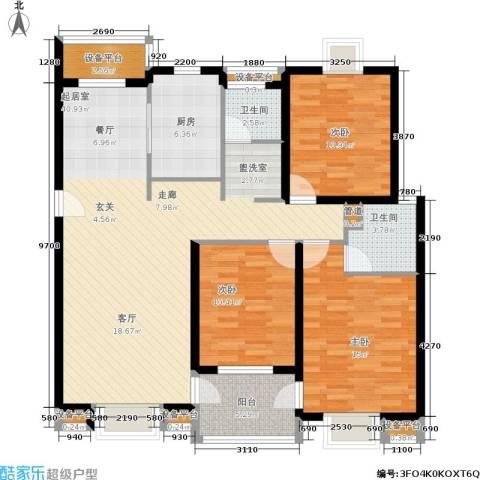 正阳世纪星城3室0厅2卫1厨114.00㎡户型图