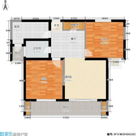 久阳文华府邸2室0厅1卫1厨120.00㎡户型图
