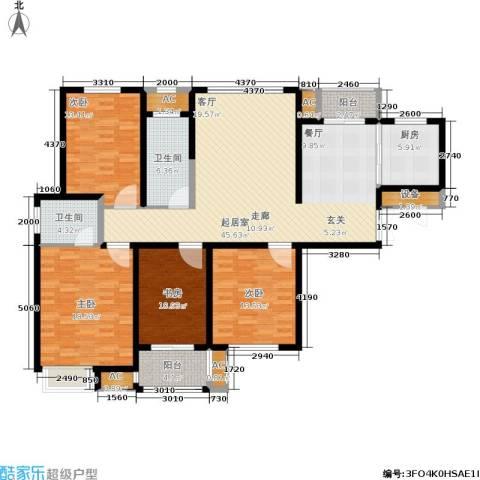 久阳文华府邸4室0厅2卫1厨150.00㎡户型图