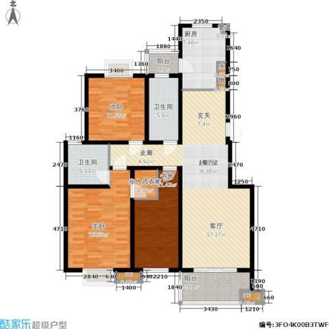 东城天骄3室0厅2卫1厨123.00㎡户型图