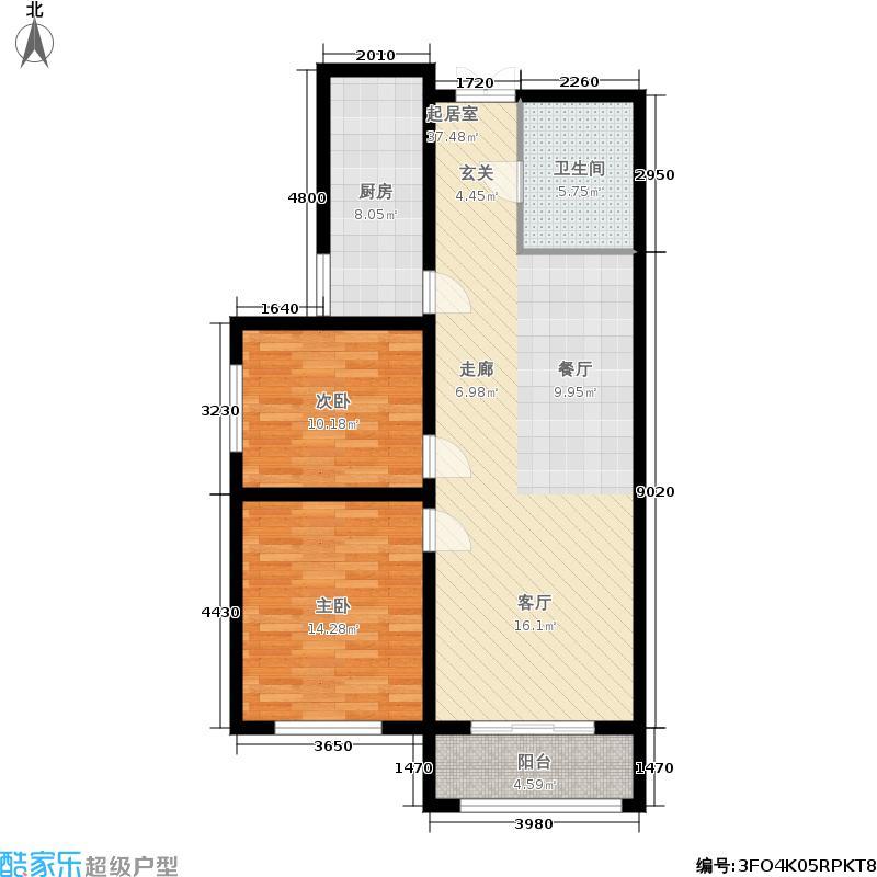 德荣·帝景91.37㎡德荣・帝景16号楼CC反户型