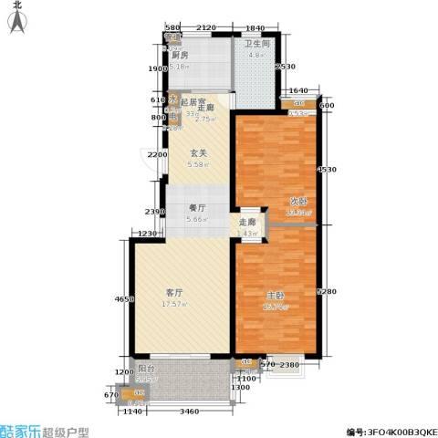 东城天骄2室0厅1卫1厨93.00㎡户型图