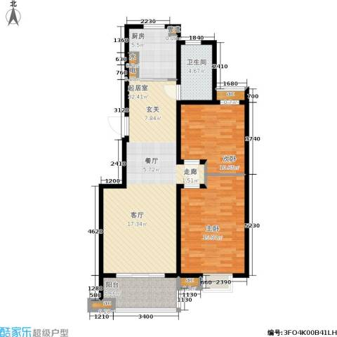 东城天骄2室0厅1卫1厨89.00㎡户型图