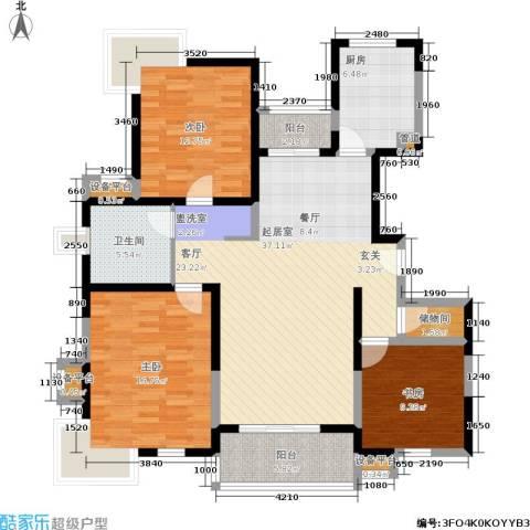 正阳世纪星城3室0厅1卫1厨115.00㎡户型图