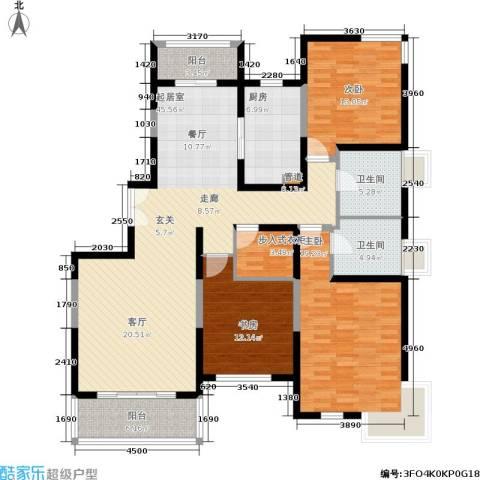 正阳世纪星城3室0厅2卫1厨138.00㎡户型图