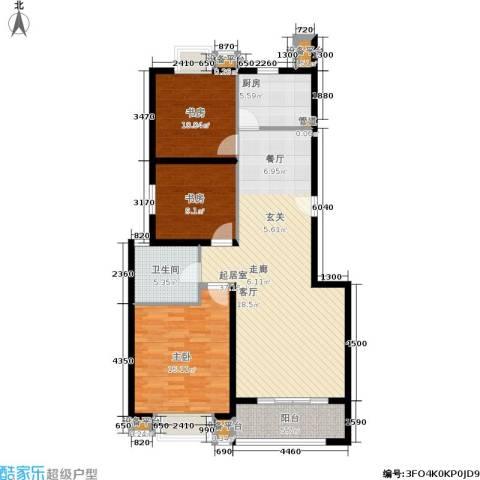 正阳世纪星城3室0厅1卫1厨129.00㎡户型图