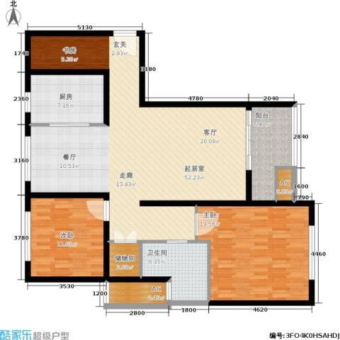久阳文华府邸2室0厅1卫1厨123.00㎡户型图