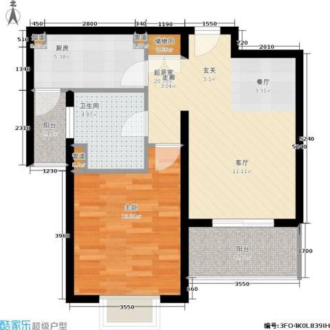 新天地荻泾花园1室0厅1卫1厨61.00㎡户型图