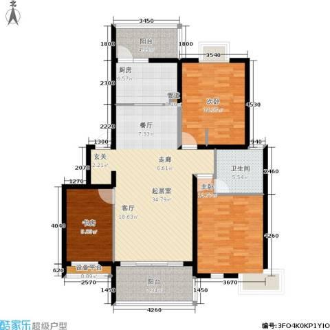 正阳世纪星城3室0厅1卫1厨112.00㎡户型图