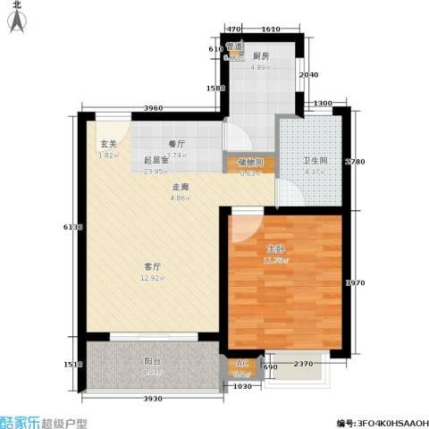 久阳文华府邸1室0厅1卫1厨58.00㎡户型图