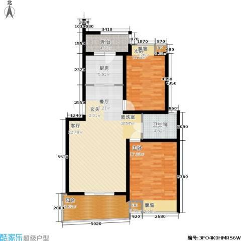 北桥春天2室0厅1卫1厨97.00㎡户型图