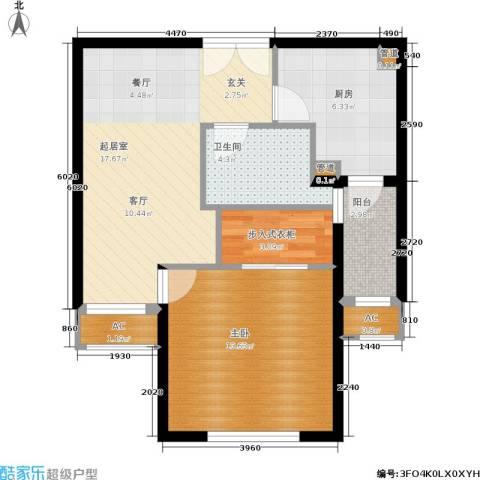 淡水湾花园1室0厅1卫1厨55.00㎡户型图