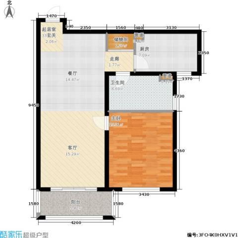 瑞金尊邸1室0厅1卫1厨79.00㎡户型图