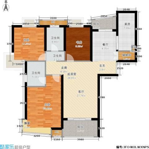 淡水湾花园3室0厅2卫1厨158.00㎡户型图