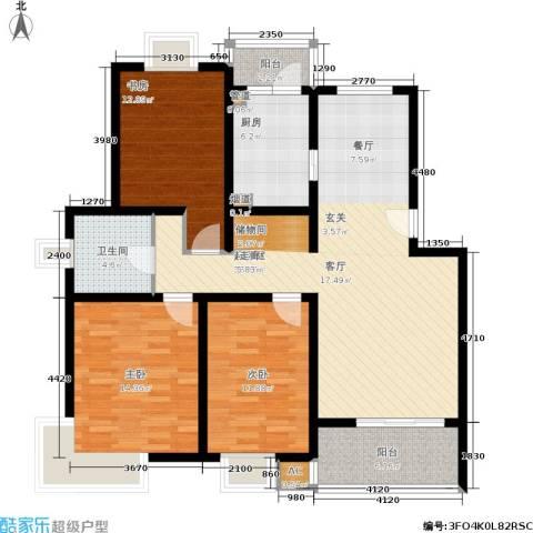 新天地荻泾花园3室0厅1卫1厨107.00㎡户型图