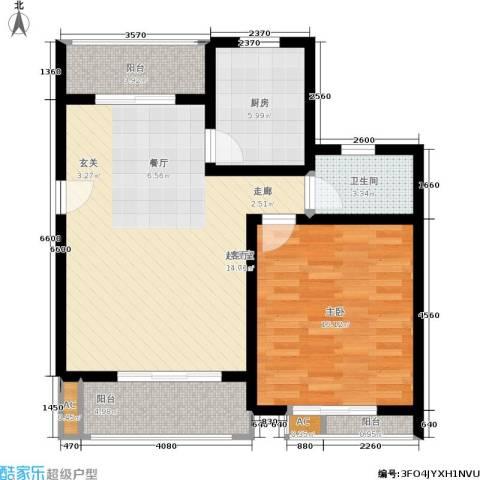 众众德尚世嘉1室0厅1卫1厨73.10㎡户型图