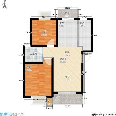 上大阳光乾和园2室0厅1卫1厨82.00㎡户型图