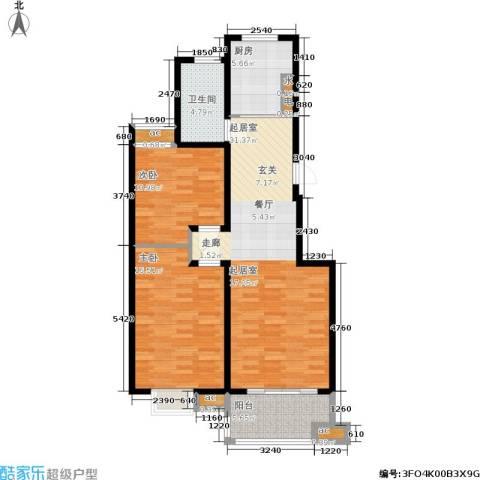 东城天骄2室0厅1卫1厨88.00㎡户型图