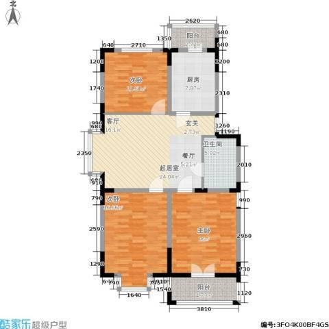 怡康新寓3室0厅1卫1厨102.00㎡户型图