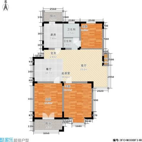怡康新寓3室0厅1卫1厨114.00㎡户型图