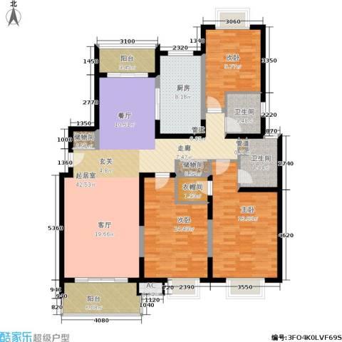 九歌上郡3室0厅2卫1厨163.00㎡户型图
