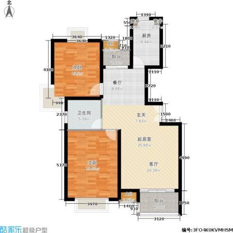 大华锦绣华城第19街区2室0厅1卫1厨125.00㎡户型图