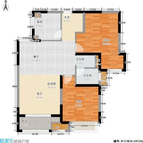 绿地梧桐院2室0厅1卫1厨95.00㎡户型图