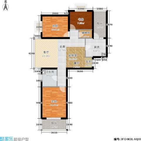 恒阳花苑海上花3室0厅1卫1厨106.00㎡户型图