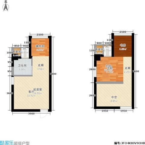 基星阁1室0厅1卫0厨69.00㎡户型图