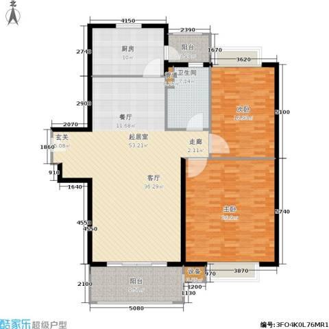东方帕堤欧花园小城2室0厅1卫1厨140.00㎡户型图