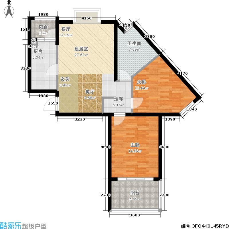 恒阳花苑海上花87.30㎡上海海上面积8730m户型