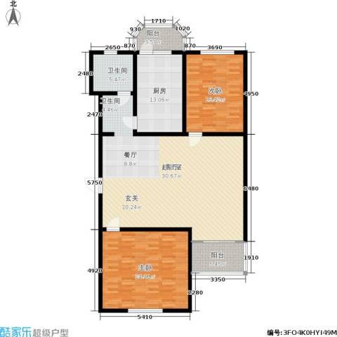 控江一村2室0厅1卫1厨140.00㎡户型图