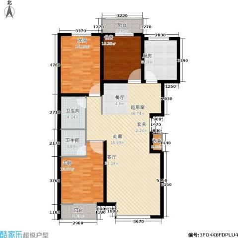 瑞和园3室0厅2卫1厨154.00㎡户型图