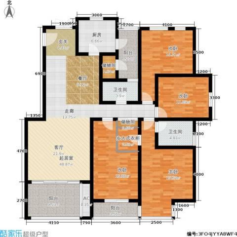 江山多娇滨江花园4室0厅2卫1厨159.00㎡户型图