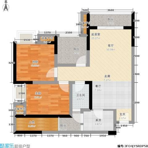 商社时代峰汇地块2室0厅1卫1厨79.00㎡户型图