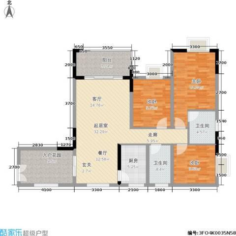 金地豪苑3室0厅2卫1厨103.00㎡户型图