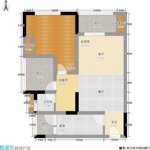 商社时代峰汇地块1室0厅1卫1厨68.00㎡户型图