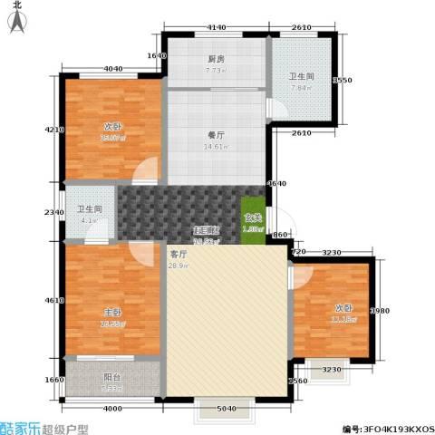 天润国际城3室0厅2卫1厨140.00㎡户型图