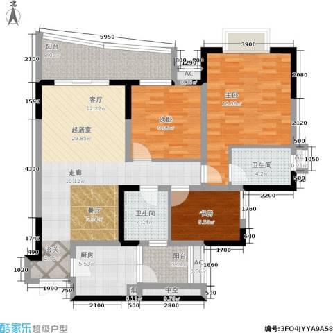 江山多娇滨江花园3室0厅2卫1厨200.00㎡户型图